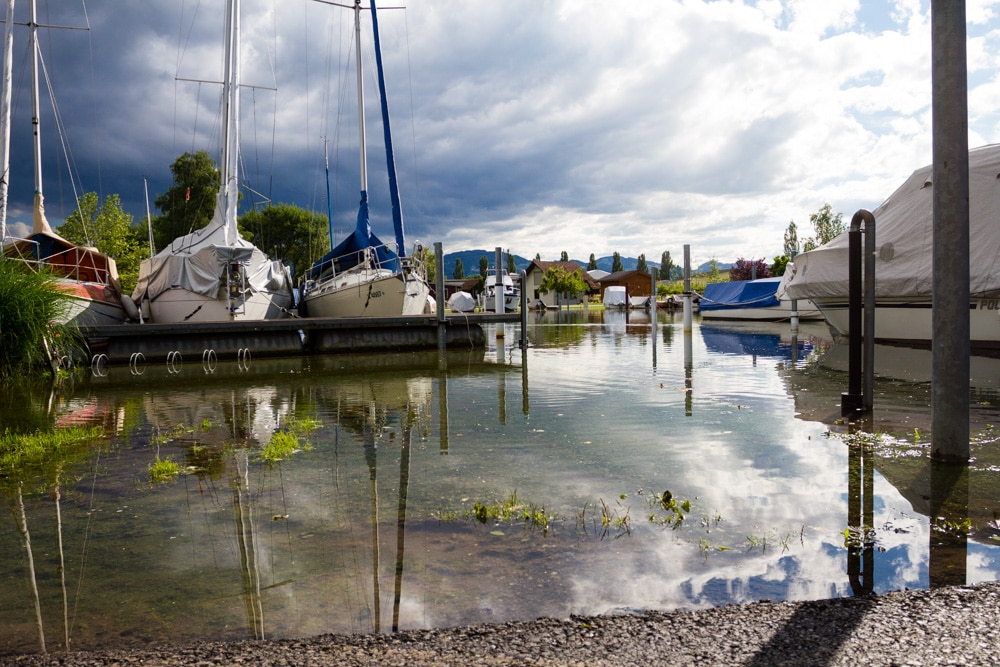 Hochwasser Bodensee 2016